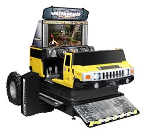 video arcade games include the hummer motion simulator for the video arcade business
