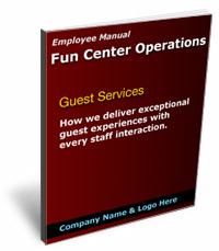 Guest service manual for your fun center business