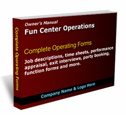 fun center operations complete forms pack