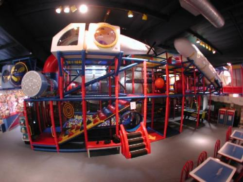 indoor playground equipment installed at family fun center